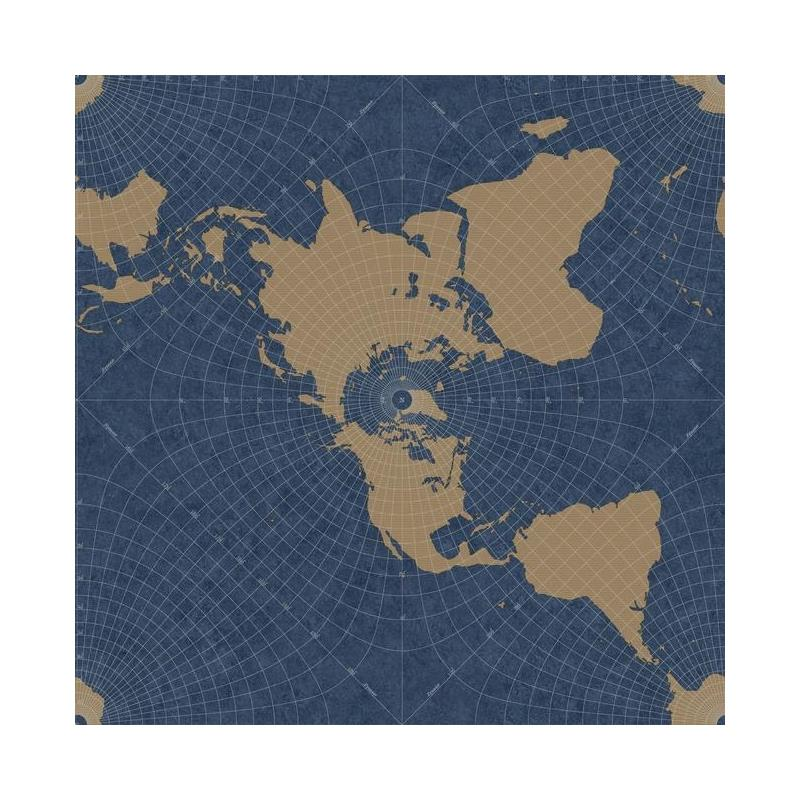 HO3368 Maritime Map, Tailored by York Wallpaper