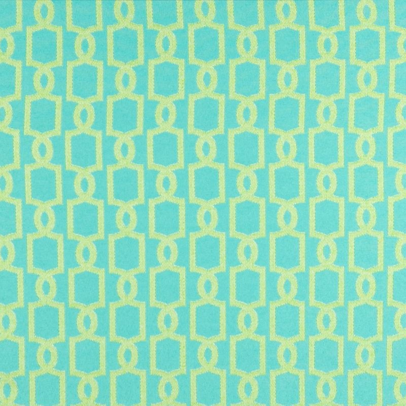 B6919 Seaglass, Teal Geometric Upholstery by Green