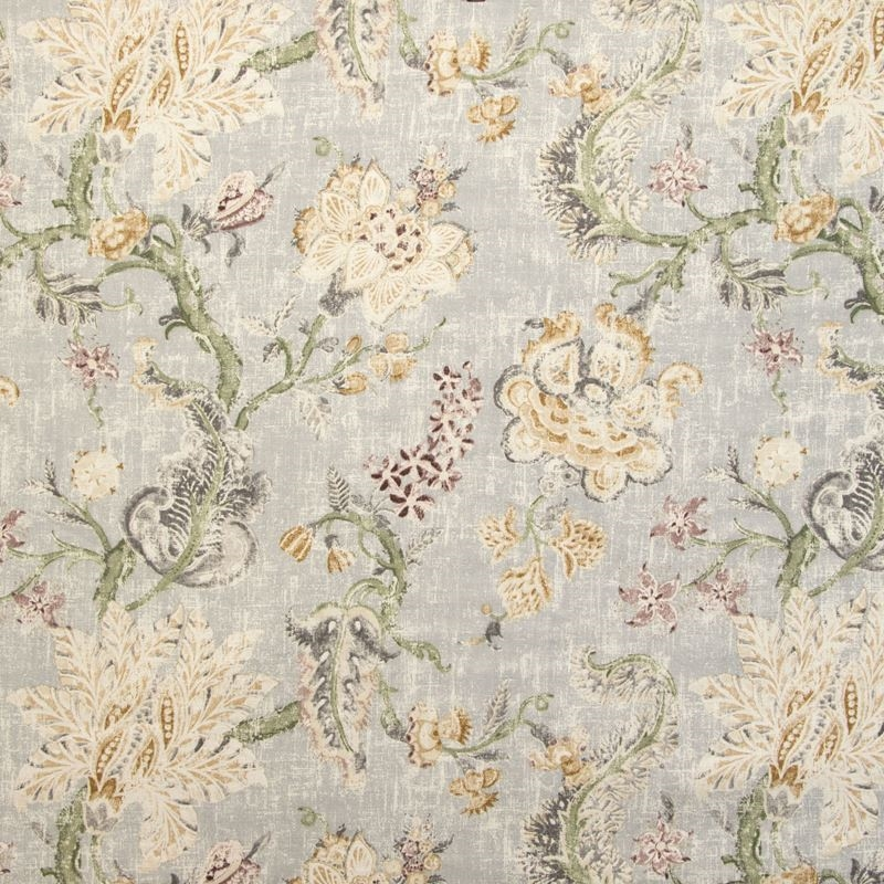 B9635 Pearl Grey, Gray Floral Multipurpose by Gree