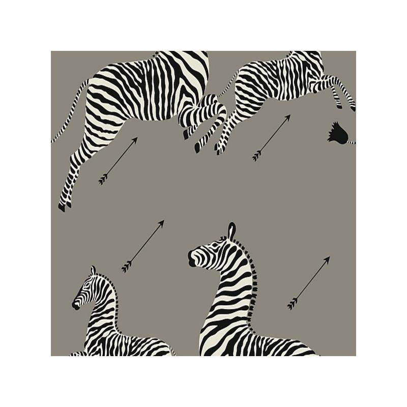 SC 0013WP81388PS Zebras, Grey By Scalamandre Wallp