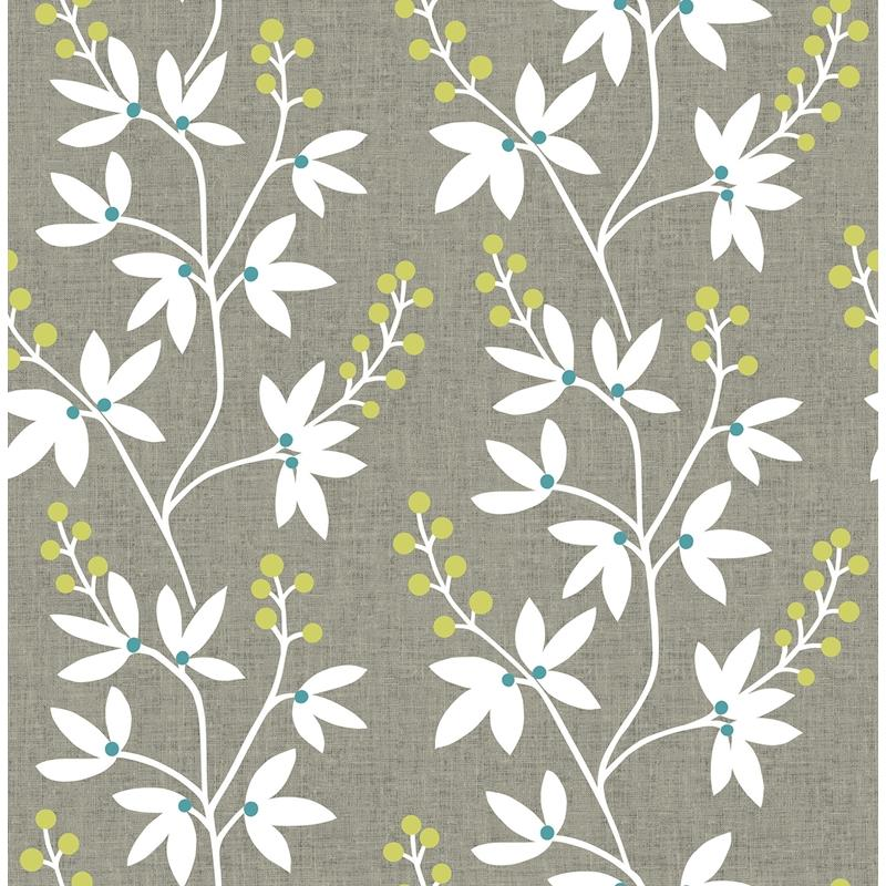 NUS3548 Taupe and Lime Fairfield, Flowers Peel and