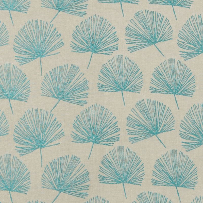 B7604 Peacock, Teal Floral Upholstery by Greenhous