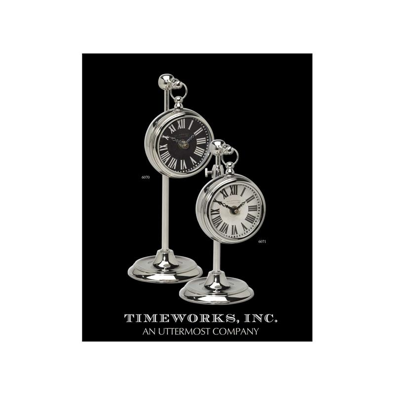 06071 Pocket Watch Nickel Marchant Black by Utterm