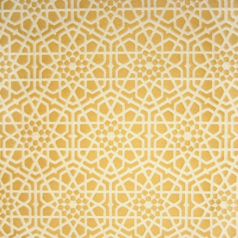 B9897 Gold, Yellow Floral Upholstery Fabric by Gre