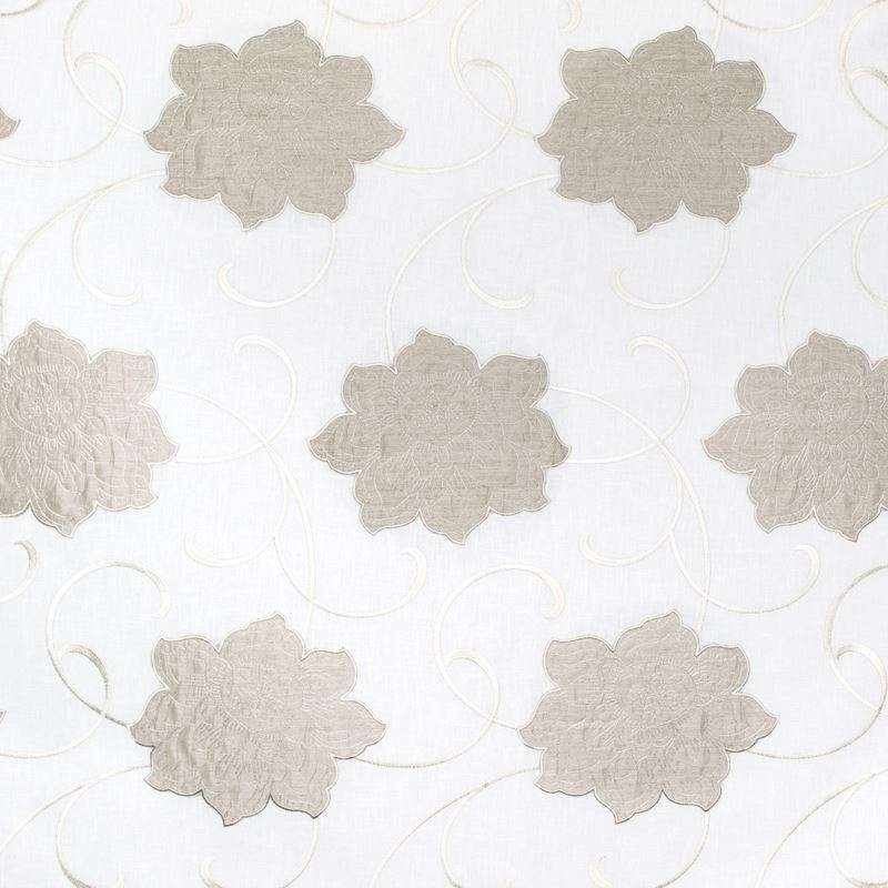 B8020 Natural, Neutral Scroll by Greenhouse Fabric