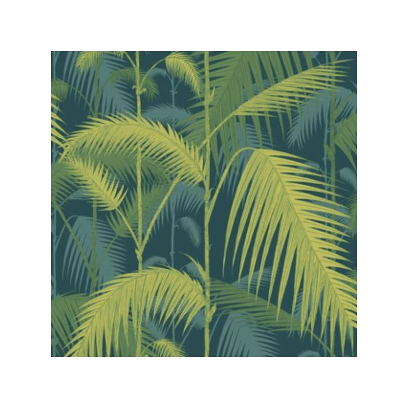 112/1002 Palm Jungle Petrol/Lime by Cole and Son