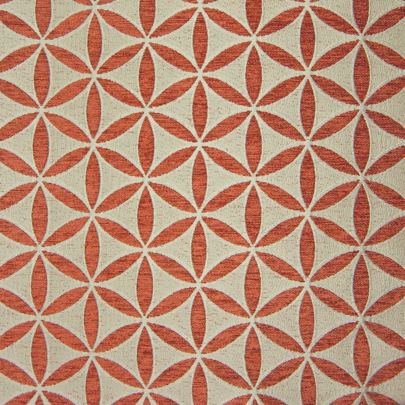 B9851 Russet, Orange Floral Upholstery Fabric by G
