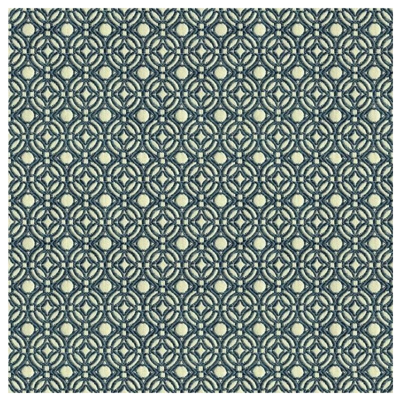 33585.5.0 White Upholstery Geometric Fabric by Kra