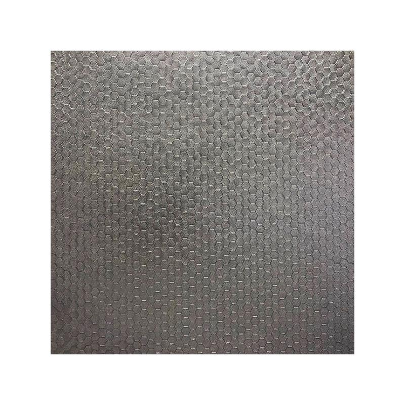 2927-42488 Polished, Carbon Pewter Honeycomb Geome