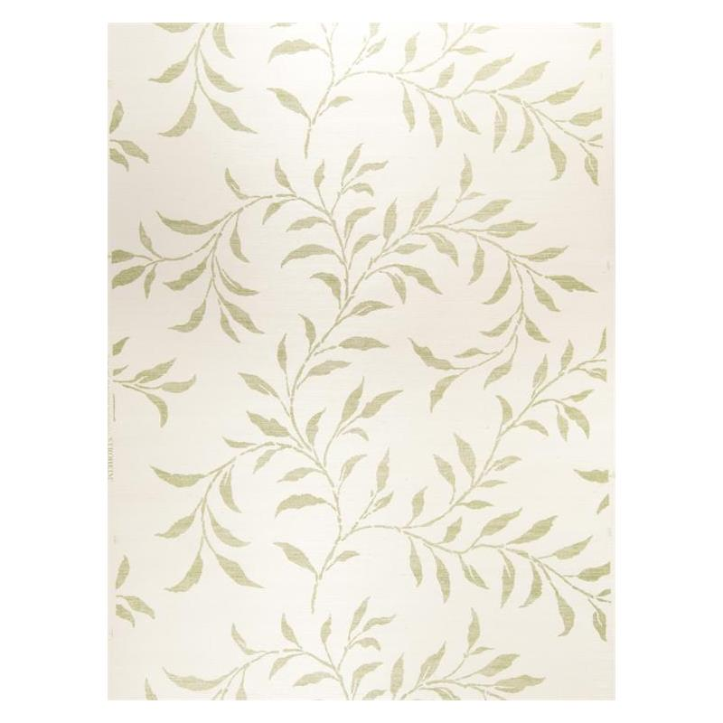 Viney Leaf Sisal Green On Oyster Silhouettes Stroh