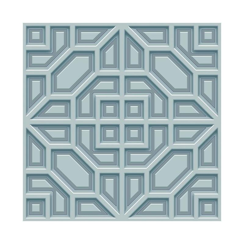 DI4703 Dimensional Artistry, Asian Lattice, Blue G