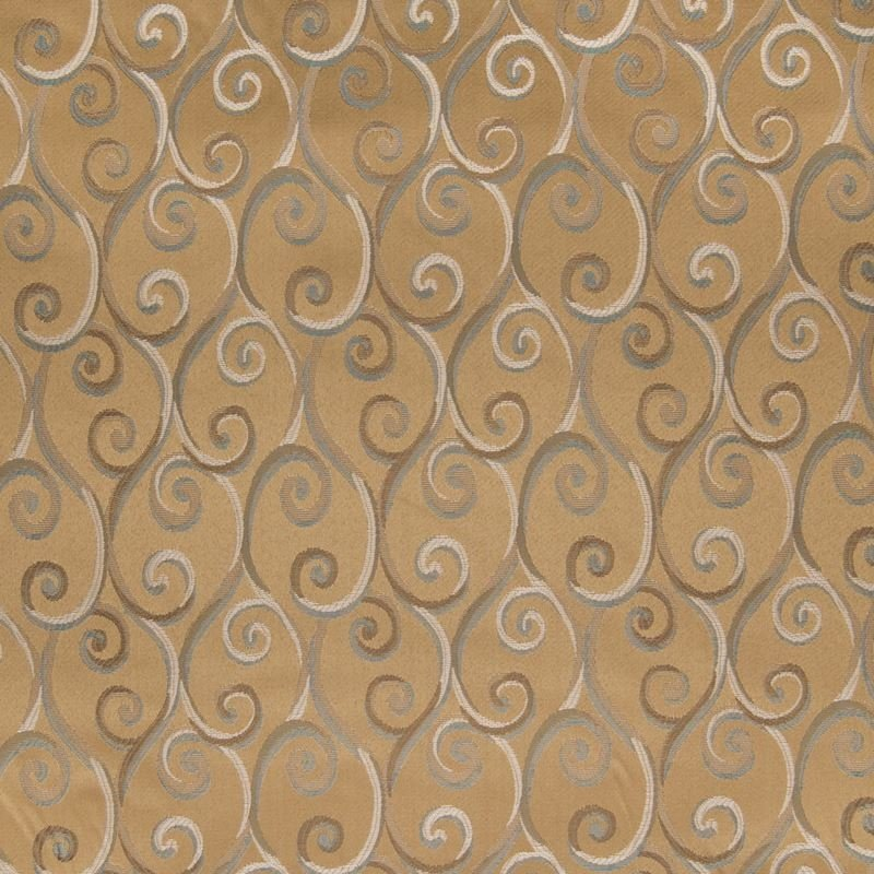 B2546 Cappuccino, Gold Scroll Upholstery by Greenh