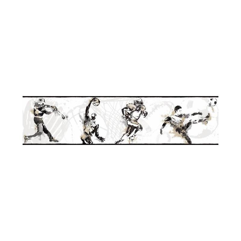 BS5304BD Sports Players Border by York Wallcoverin