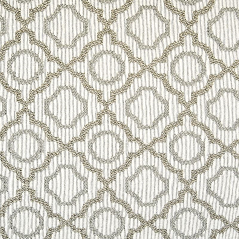 F1368 Linen, Brown Geometric Upholstery Fabric by