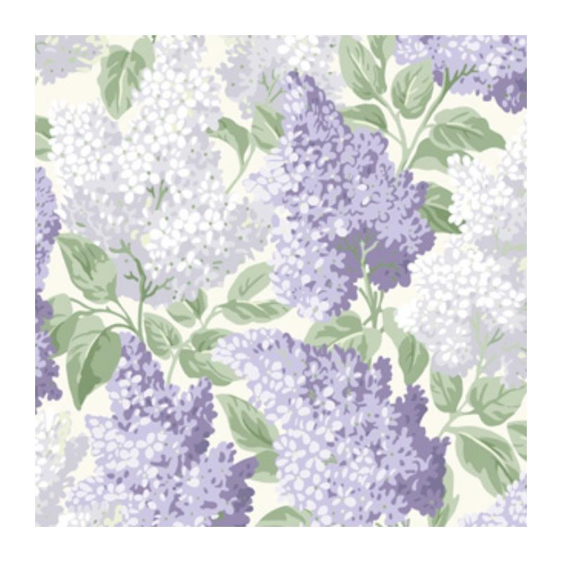 115-1004 Lilac, Lilac Dove White Print by Cole and