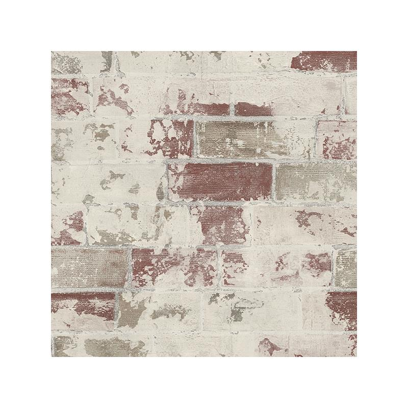 G67988 Organic Textures, Red Brick Wallpaper by No