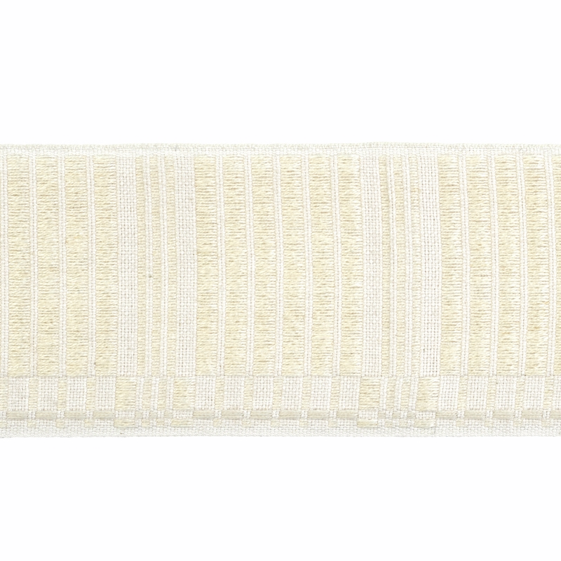 79213 Carmo Tape Wide, Ivory by Schumacher Fabric