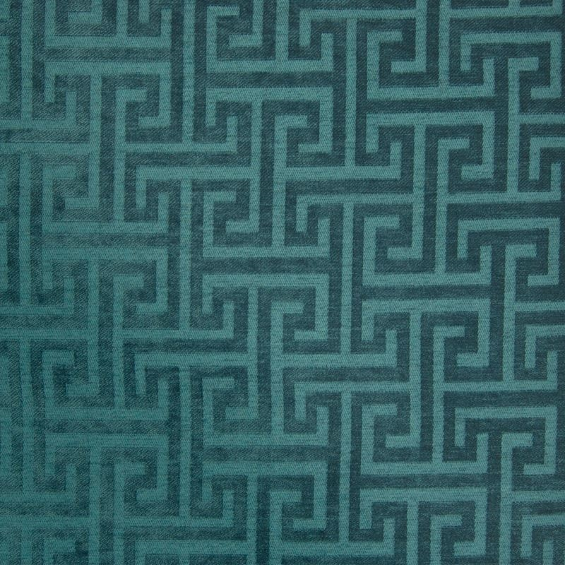 B7607 Teal, Teal Geometric Upholstery by Greenhous