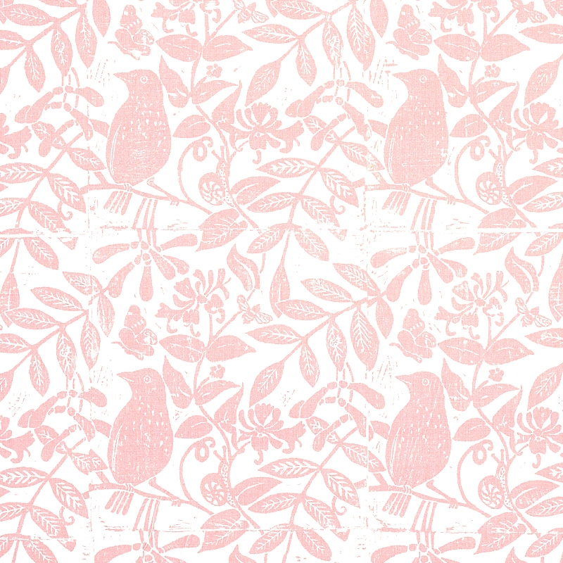 179210 Bird and Bee, Pink by Schumacher Fabric