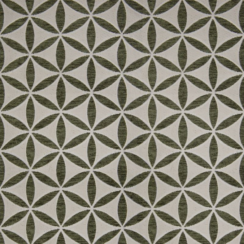 B9889 Alpine, Green Floral Upholstery Fabric by Gr