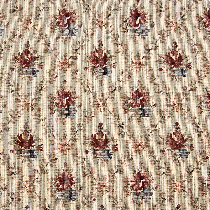 A8157 Ivory, Red Tapestry Upholstery by Greenhouse