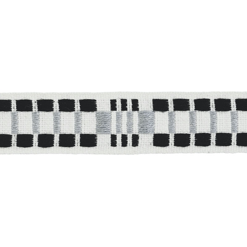 78991 Carmo Tape Narrow, Silver and Black by Schum