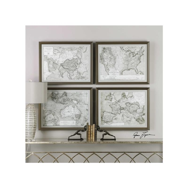 33639 World Maps S/4 by Uttermost