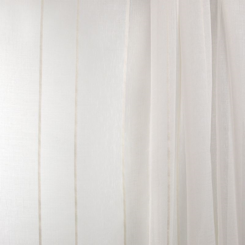 B7962 Ivory, Neutral Stripe Drapery by Greenhouse
