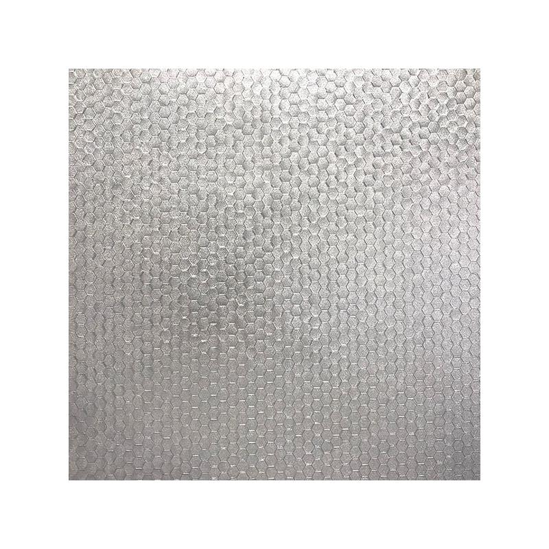 2927-42485 Polished, Carbon Silver Honeycomb Geome