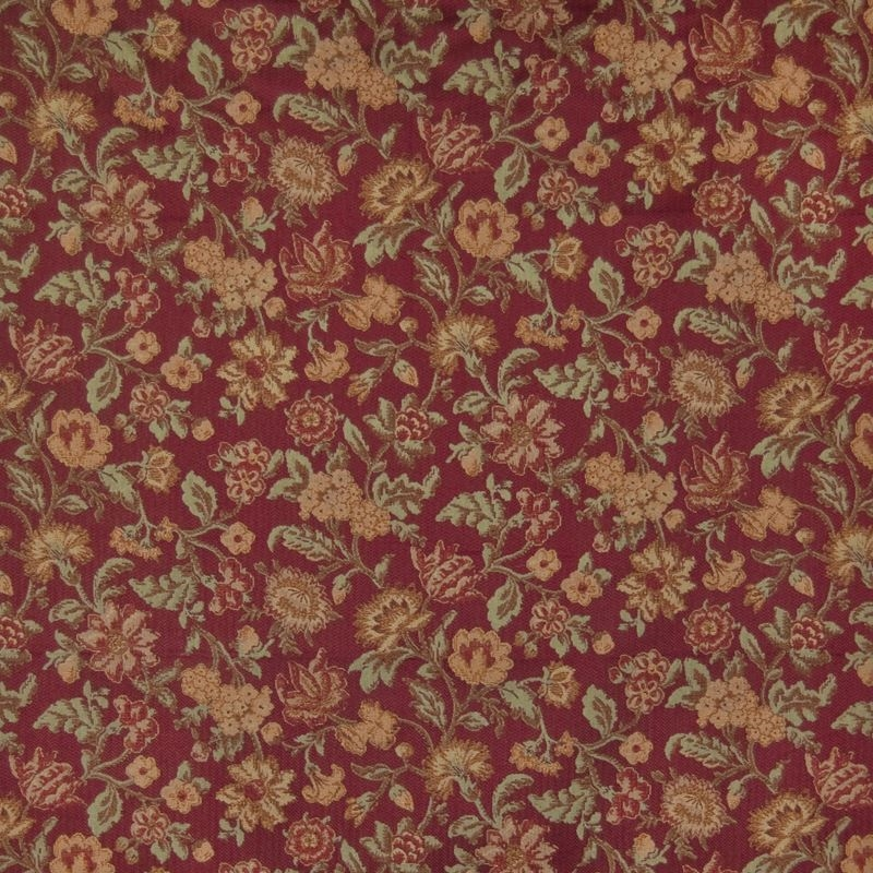 B1661 Sangria, Red Tapestry Upholstery by Greenhou