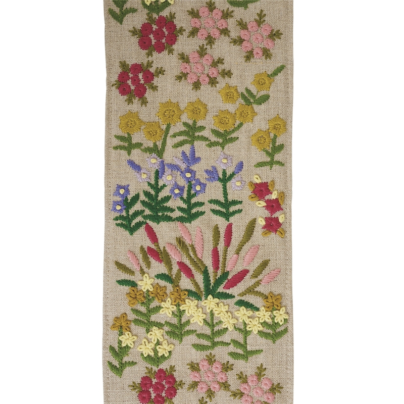 79311 Lula Embroidered Tape, Natural by Schumacher