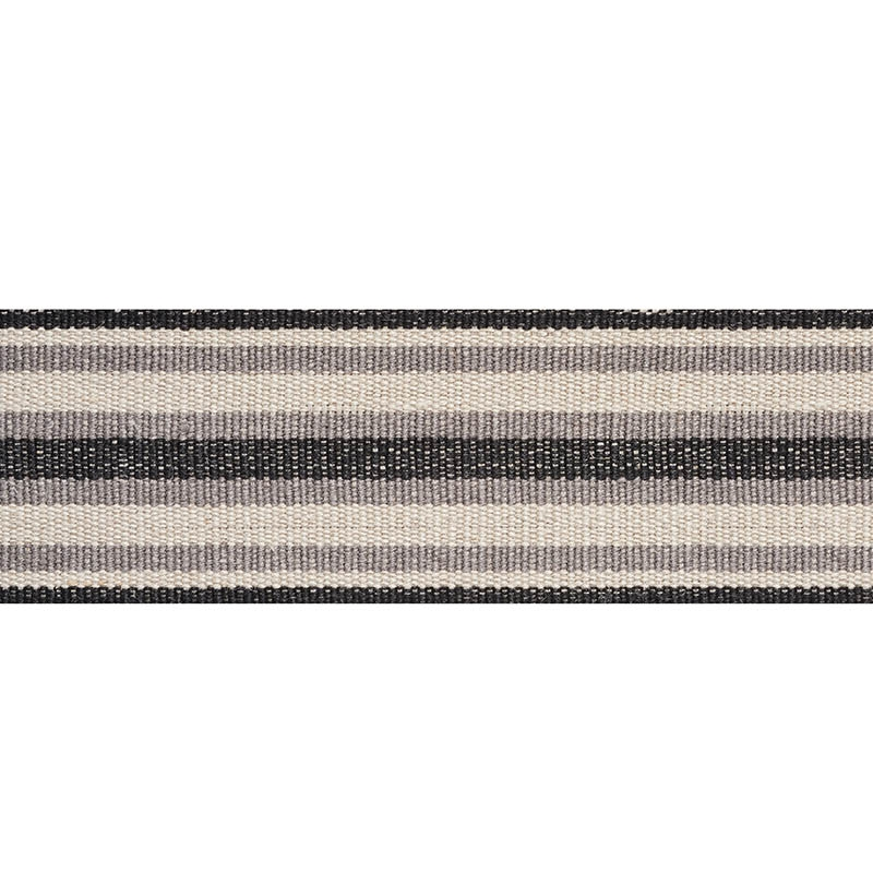 76582 Levant Tape, Charcoal by Schumacher Fabric