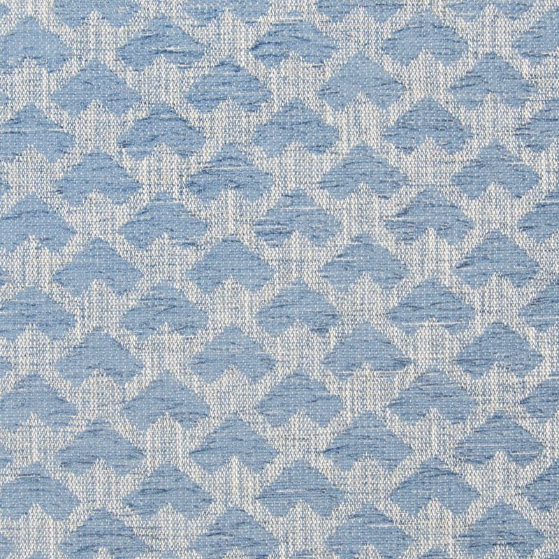 B7613 Waterfall, Blue Geometric Upholstery by Gree