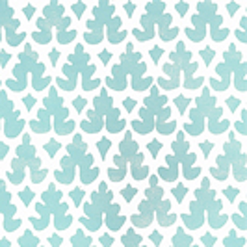 304040WP Volpi, Turquoise by Quadrille Wallpaper