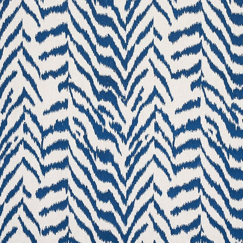 80672 Quincy Embroidery On Linen, Navy By Schumach