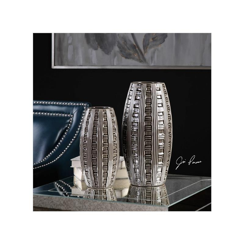 18711 Aura Vases S/2 by Uttermost