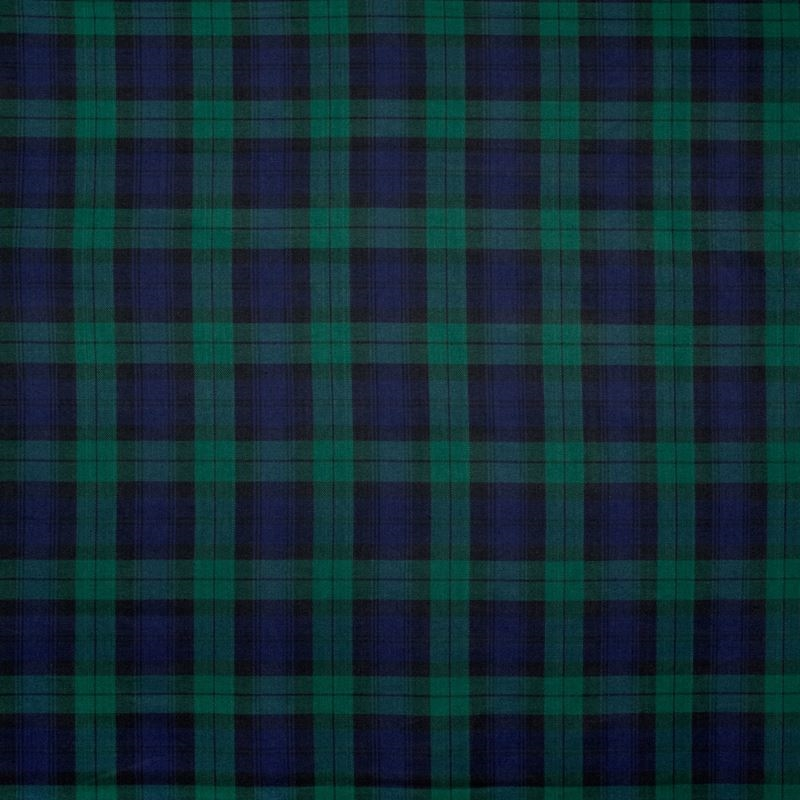B9491 Blackwatch, Blue Plaid Check Upholstery by G