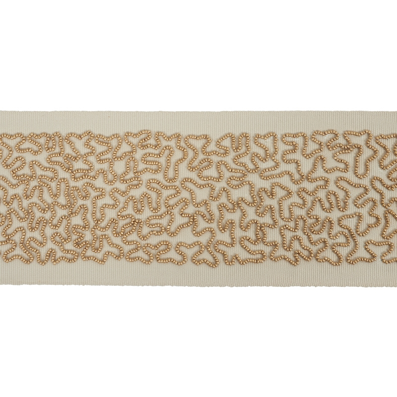 77481 Vermicelli Beaded Tape, Gold By Schumacher T