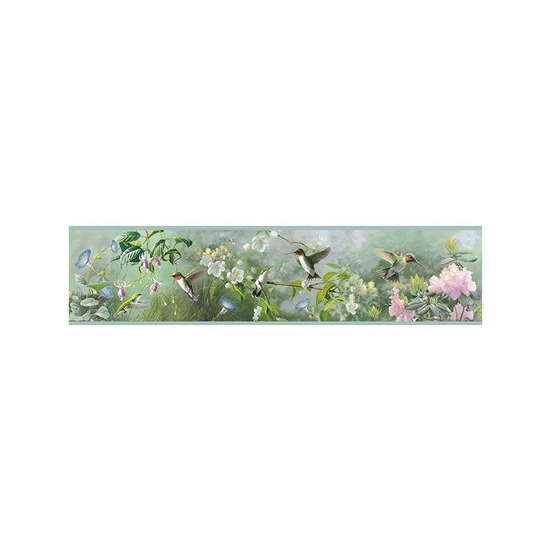 3118-48531B Birch and Sparrow, Ruby Garden by Ches