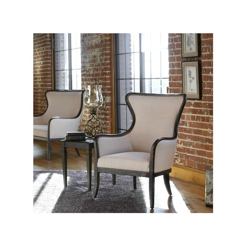 23073 Sandy Wing Chair by Uttermost