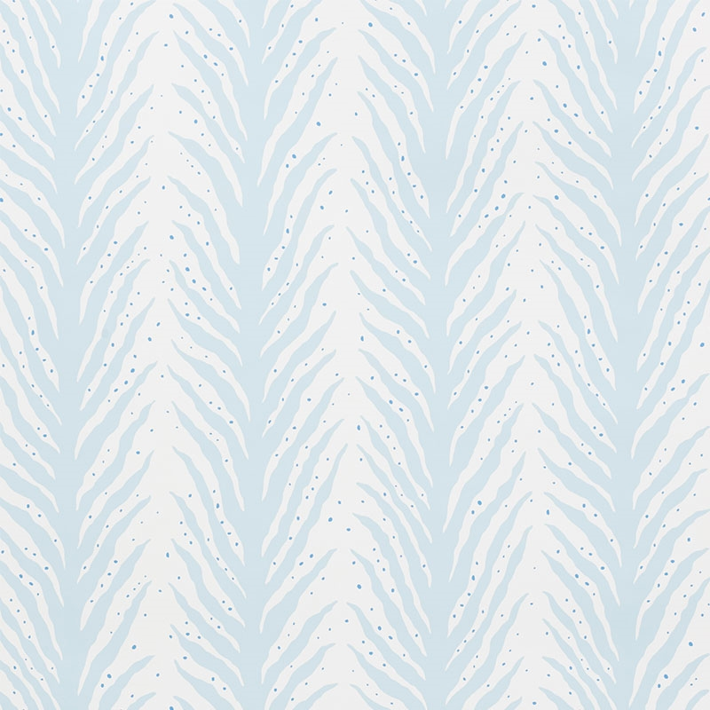 5009451 Creeping Fern Slumber Blue by Schumacher W