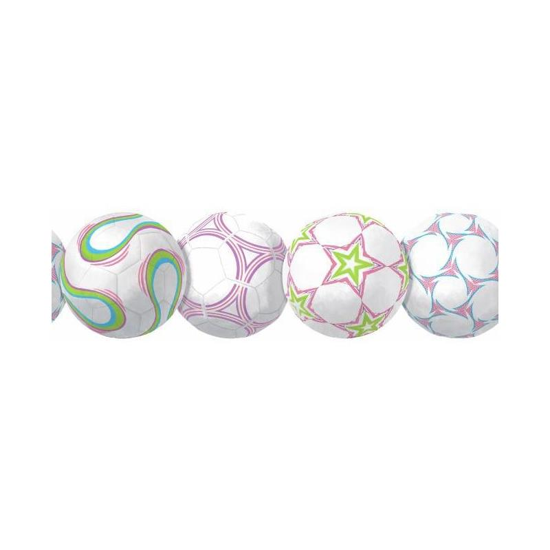 BS5321BD New Soccerball Border by York Wallcoverin