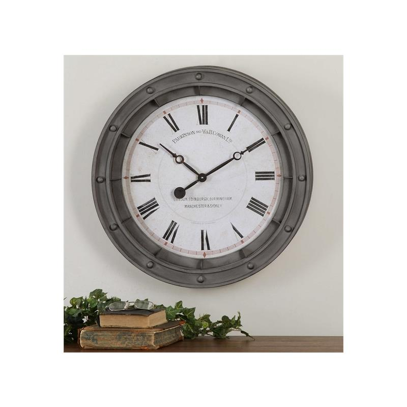 06092 Porthole Clock by Uttermost