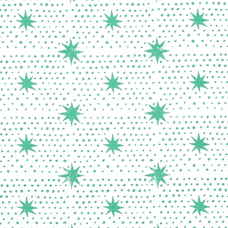 179161 Spot and Star, Sea Glass by Schumacher Fabr