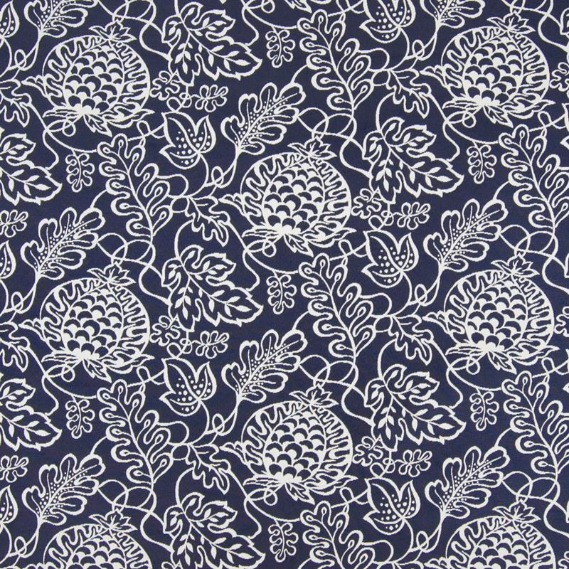 B6937 Pacific, Blue Floral Upholstery by Greenhous