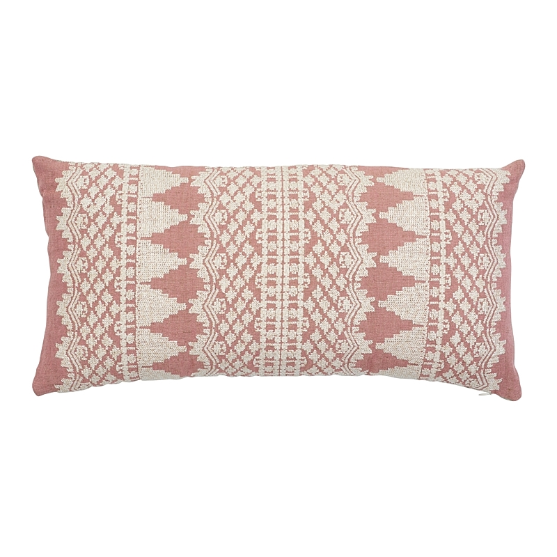 So7547318 Wentworth Embroidery Pillow, Rose By Sch