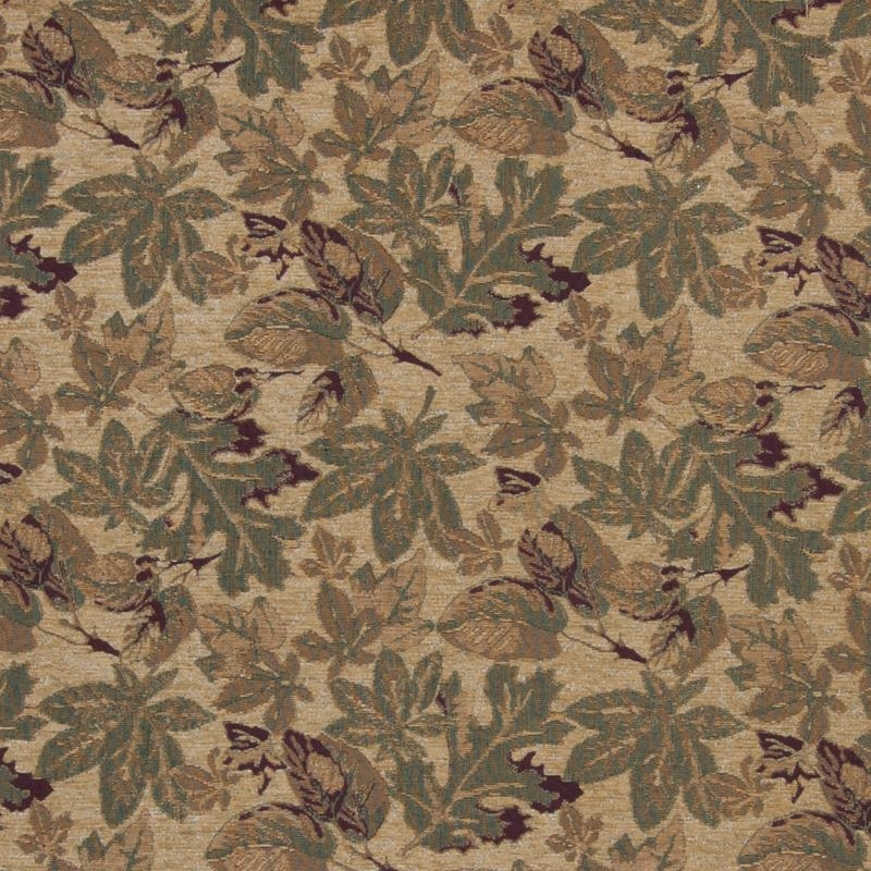 B2878 Gold, Green Tapestry Upholstery by Greenhous