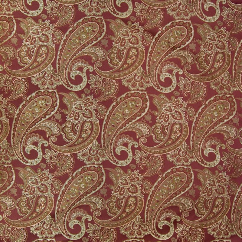 B2553 Merlot, Red Scroll Upholstery by Greenhouse