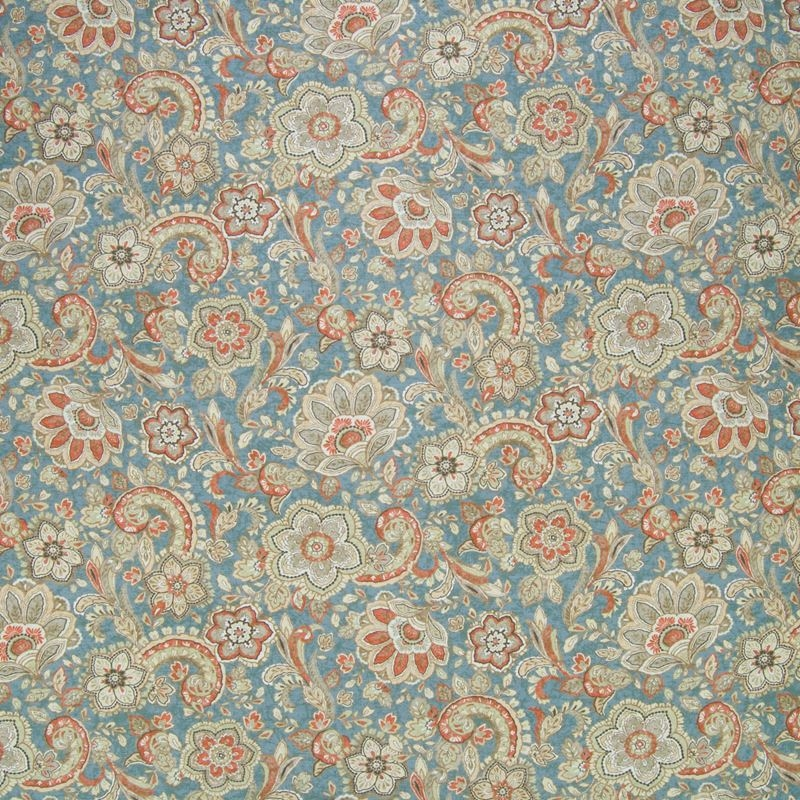 B6590 Dusty Blue, Blue Floral Multipurpose by Gree
