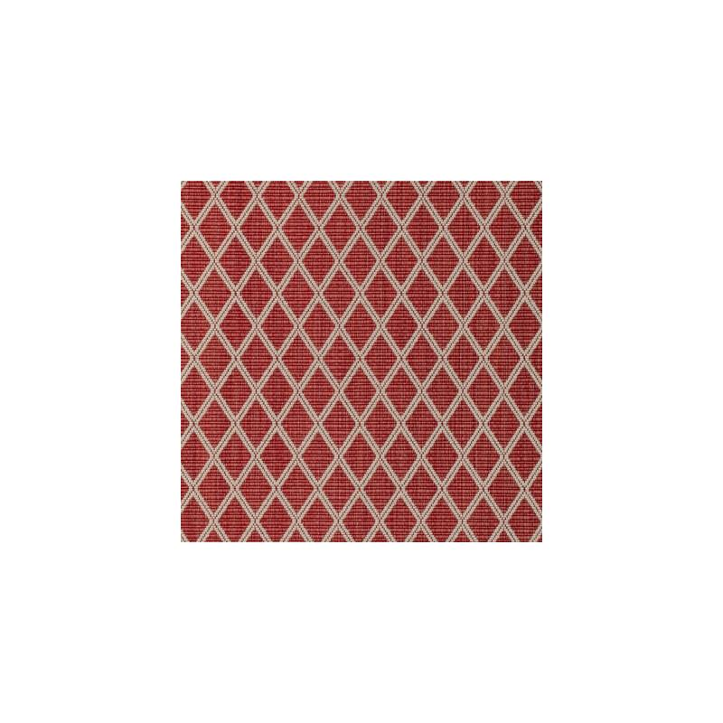 8020109.19.0 Cancale Woven Red Diamond Brunschwig